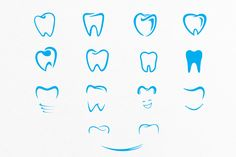Tooth Shapes For Dental Care Logos by lovepower on Creative Market