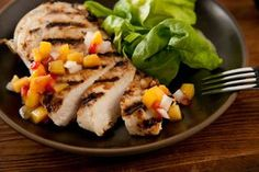 Buttermilk Chicken with Peach-Tomato Salsa Recipe