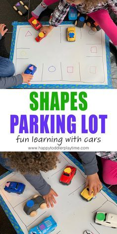 Shapes Parking Lot Activity - HAPPY TODDLER PLAYTIME