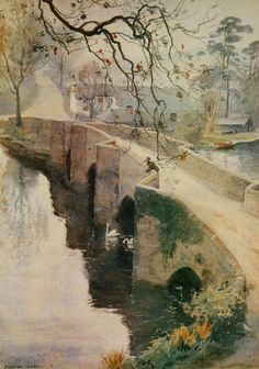 Misty Autumn Morning, Newby Bridge (framed print)   Framed prints by Alfred Heaton Cooper   Prints of paintings by Alfred Heaton Cooper   Fine Art Prints   FINE ART GALLERY   Home   Heaton Cooper Studio