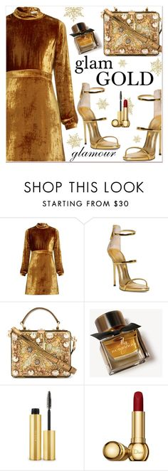 """Party On: Long Sleeve Dresses"" by razone ❤ liked on Polyvore featuring A.L.C., Dolce&Gabbana, Burberry, AERIN and Christian Dior"
