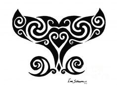 ' Humpback - Whale Tail ' Photographic Print by lschnorr Ta Moko Tattoo, Hawaiianisches Tattoo, Hawaiian Art, Hawaiian Tattoo, Whale Tattoos, Tribal Tattoos, Tatoos, Polynesian Tattoos, Maori Designs