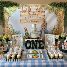 Molli Potter added a photo of their purchase Easter Birthday Party, Boys First Birthday Party Ideas, Birthday Themes For Boys, Bunny Birthday, 1st Boy Birthday, Boy Birthday Parties, Peter Rabbit Cake, Peter Rabbit Birthday, Peter Rabbit Party