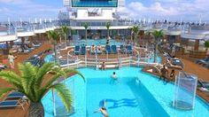 "Princess Cruises' Fountain Pool on Royal Princess cruise ship; Avoya Travel Article: ""New 2013 Cruise Ships for Summer!"""