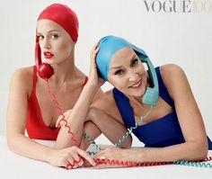"""Georgia May Jagger ao lado da mãe, Jerry Hall, em editorial da """"Vogue"""" britânica - vem ver mais!"""