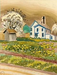 House by the Road, Charles Burchfield, 1917