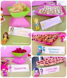 strawberry shortcake birthday idea | Strawberry Shortcake Birthday Party Deserts, Printables & Ideas ...