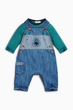 Kaufen Sie Jeans-Latzhose mit Bär, blau (0 Monate bis 2 Jahre) heute online bei Next: Deutschland