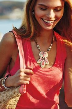 Hibiscus Pendant Necklace by Stella & Dot