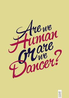 The Killers. Are we human? Or are we dancer? @Sofie Helsted Helsted K