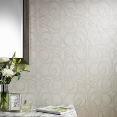 Jazz Damask Wallpaper - White Damask Wall Coverings by Graham  Brown