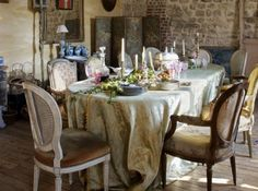 french style dinner table decoration