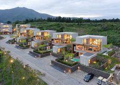[Jeongdongjin Kim + Rodesign] Jeju Bayhill Pool and Row House Design, Villa Design, Modern House Design, Duplex Design, Resort Plan, City Layout, Casas Containers, Property Design, Space Architecture
