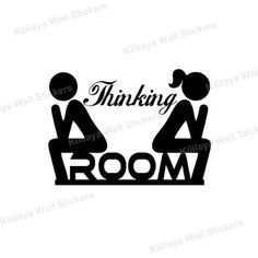 Creative DIY Funny Top Design Toilet Door Sign Sticker 1005