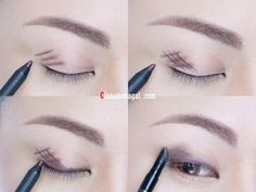 Forgo eyeshadow and instead, cross-hatch gel liner onto lids and blend for…