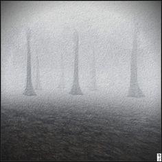 https://flic.kr/p/R4swCT | Fuyuko 17-01-08 004 - The haze of memory (berg by norden art, nordan om jordan) | Installation Penumbra by Meilo Minotaur and CapCat Ragu