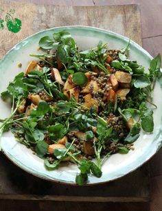 This is a great, if unexpected, three-way combination of lovely flavours and textures, all held together by the nutty rapeseed oil dressing – a perfect autumn salad.