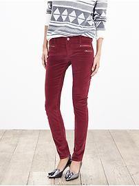 Zip-Pocket Skinny Ankle Cord