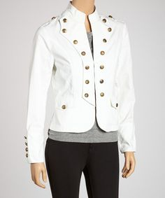 Take a look at this White Military Jacket on zulily today!