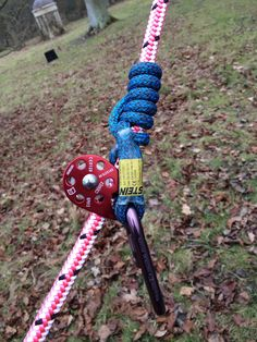 A lanyard in action - find out more at www.scottfrasertraining.co.uk/ find us on Facebook Rope Climbing, Rock Climbing Gear, Tree Felling, Climbers, Scouts, Firefighter, Wilderness, Projects To Try, Survival