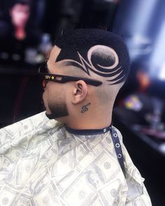 35 Awesome Design Haircuts For Men - Men's Hairstyles Hair Designs For Boys, Haircut Designs For Men, Cool Hair Designs, Design Haircuts, Hair Tattoo Designs, Curly Hair Styles, Natural Hair Styles, Shaved Hair Designs, Black Men Haircuts