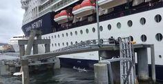 La nave da crociera sbaglia l'attracco e abbatte il molo. È successo nel porto di Ketchikan in Alaska e il video si è trasformato in virale.