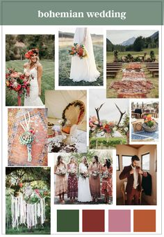 Creating a Vision Board for Your Wedding | Bohemian Wedding | How to make a vision board | Bohemian wedding colors | Bright wedding colors | Boho Wedding | Boho Bride | The Internet's Maid of Honor