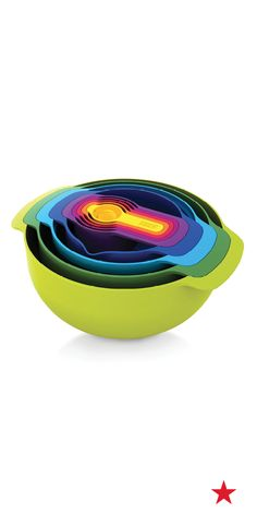 The innovative design on the Joseph Joseph measuring cups is great for easy storage, especially in small spaces, and includes everything from mixing bowls to a colander to measuring cups. Shop now!
