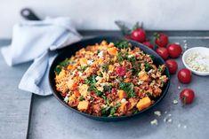 AURA jauheliha-bataattipannu Paella, Fried Rice, Food Inspiration, Seafood, Grains, Curry, Meat, Dinner, Baking