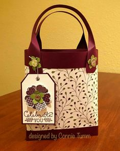 Card making, stamping, stampin up, papercrafts, handmade cards 3d Paper Crafts, Paper Gifts, Boxes And Bows, Paper Purse, Craft Box, Card Tutorials, Homemade Cards, Stampin Up Cards, Gift Bags