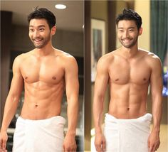 As we all anticipate the next two episodes of 'She Was Pretty' for this week, the kind people over at MBC have blessed fans with some eye candy while we anxiously wait - shirtless photos of Super Junior's Choi Siwon, who plays the role of Kim Shin Hyuk, baring his chiseled body.
