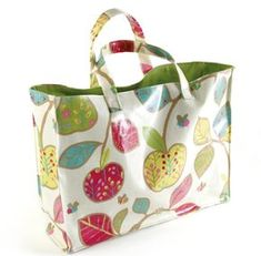 How to make an oilcloth tote Steps 9 to 12