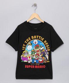 Black 'Let the Battle Begin' Super Mario Tee
