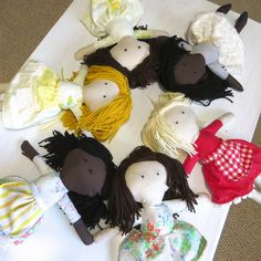 The Project Lady: Fast & Easy way to make Doll Hair with Yarn!
