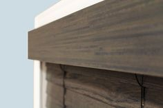 Rustic/farmhouse valance for window blinds. Color: Driftwood