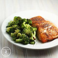 Citrus Salmon with Garlic Broccoli