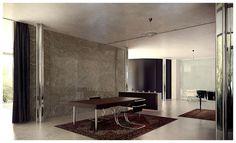 Mies van der Rohe - Villa Tugendhat 3d recreation by Lasse Rode, via Behance