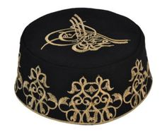 Black Rufai Kufi Men Boy Islamic Topi Takke by IslamicBazaar