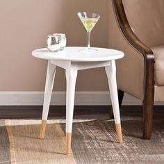 Upton Home Craven Round Side/ End Table