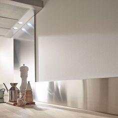 Stainless steel hood base 60 x 70 cm Kitchen Furniture, Home Interior Design, Modern Decor, Kitchen Style, Decor, White Modern Kitchen, Kitchen Credenza, Industrial Kitchen, Home Decor