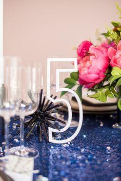Modern Wedding Centerpieces, Unique Centerpieces, Wedding Table Decorations, Wedding Blog, Destination Wedding, Wedding Photos, Sequin Tablecloth, Wedding Flower Inspiration, Reception Table