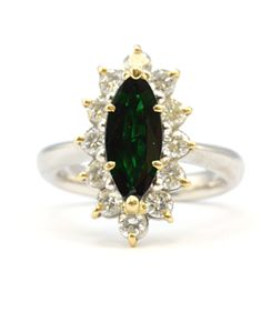 Size 6. 4.9ct Natural Green Emerald Cabochon In Sterling Silver Ring