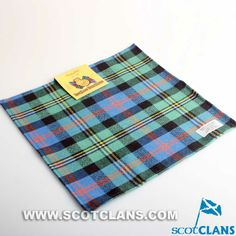 Clan Malcolm Ancient Tartan Wool Handkerchief
