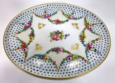 Sevres Finely Hand Painted Porcelain Vanity Tray