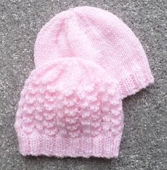 PREMATURE BABY HATS A set of hats for premature babies. There are eight…