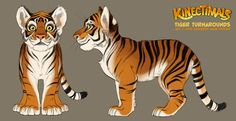 Kinectimals tiger turnarounds by *shoomlah on deviantART