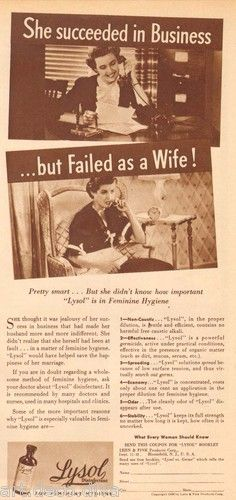 1930s Vintage Business Woman Failed Wife Lysol Douche Feminist Int Hygiene Ad | eBay