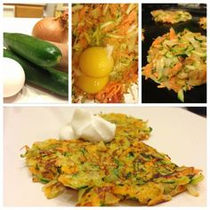 Healthy Sweet Potato Zucchini Latkes
