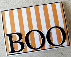 Halloween Cards - Orange and Black -
