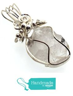 Herkimer Diamond Gemstone Sterling Silver Wire Wrapped Pendant from Angelleesa Designs https://www.amazon.co.uk/dp/B01LWPUFEQ/ref=hnd_sw_r_pi_dp_4ZL7xb1H3V8RB #handmadeatamazon